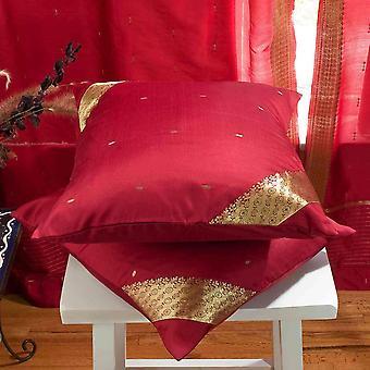 Kastanienbraun-dekorative handgefertigte Kissen decken, Wurfkissen Fall Euro Schein-6 Größen