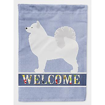 Carolines Treasures  BB5563GF Samoyed Welcome Flag Garden Size