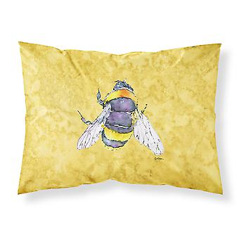 Carolines Schätze 8852PILLOWCASE Biene auf gelber feuchtigkeitsableitende Stoff standa