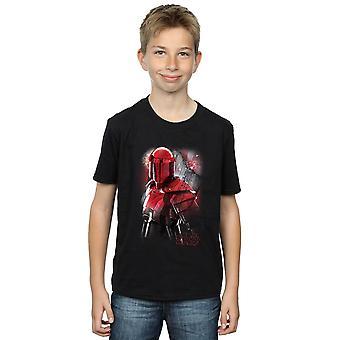Star Wars Jungs die letzten Jedi Praetorian Schutz gebürstetem T-Shirt