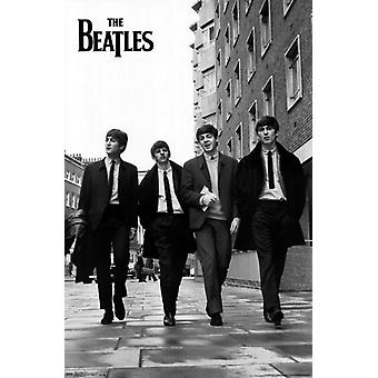 The Beatles - Straße Poster Plakat-Druck