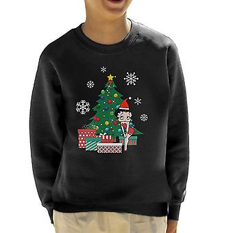 Betty Boop Around The Christmas Tree Kid's Sweatshirt