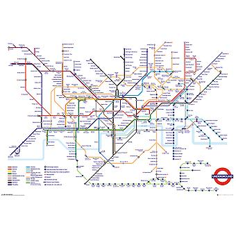 Transport For London Underground carte Maxi Poster