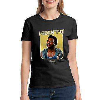 Pineapple Express I Seen't It Quote Women's Black T-shirt