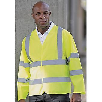 RTY Mens hoge zichtbaarheid veiligheid werkkleding snelweg vacht jas geel, oranje