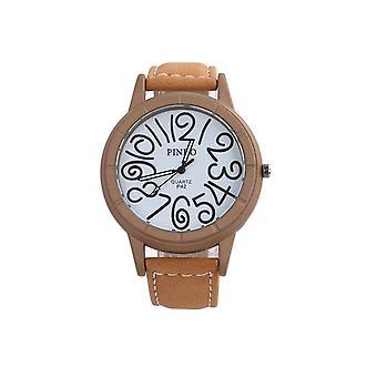 Smart Funky Watch Beige Clear Time Fashion Clock
