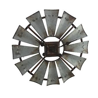 素朴な亜鉛グレー 16 インチ金属風車壁掛け時計