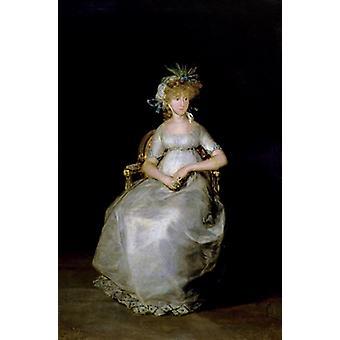 Portrait of Maria Teresa (d.1820) of.. - Art Print