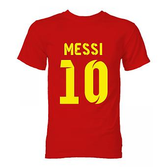 Barcelona Lionel Messi Held T-Shirt (rot)