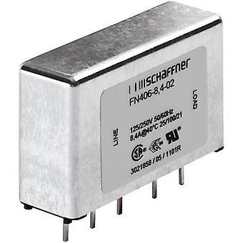 Schaffner FN 406-1-02 EMI filter 250 V AC 1 A 12 mH (L x W x H) 45 x 15 x 28 mm 1 pc(s)