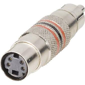 BKL Elektroninen 0204504 RCA-sovitin RCA-liitin (phono) - Mini DIN-liitäntä 1 kpl