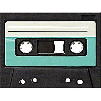 Imã de geladeira de fita cassette