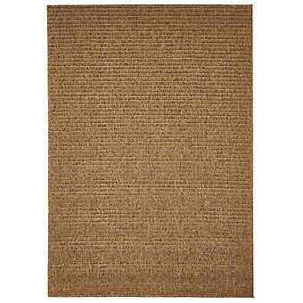 Buiten tapijt voor terras / balkon van bruin natuurlijke vlakte mokka 200 / 285 cm tapijt binnen / buiten - voor binnens- en buitenshuis