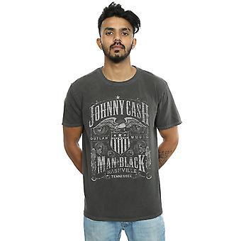 Johnny Cash Men's Nashville Label Washed T-Shirt