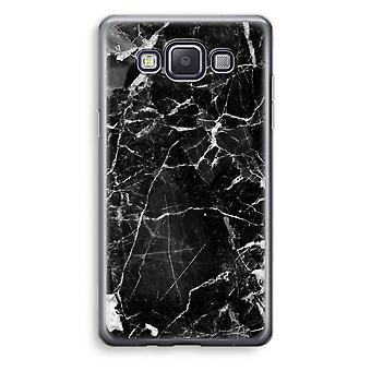 Samsung Galaxy A3 (2015) gjennomsiktig sak (myk) - svart marmor 2