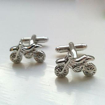 スポーツ銀汚れ自転車オートバイ レース目新しさカフス結婚式ギフト