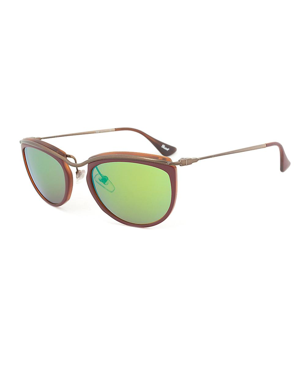 Persol PO3082S 1006/07 Sunglasses   Red and Matte Havana Frame   Brown Mirror Gold Lens
