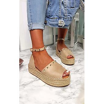 IKRUSH Womens Kandi översållad espadriller Flatform Sandal