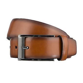 SAKLANI & FRIESE belts men's belts leather belt Cognac 3174