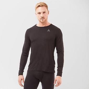 New Odlo Men's Merino Crew Neck Shirt Black