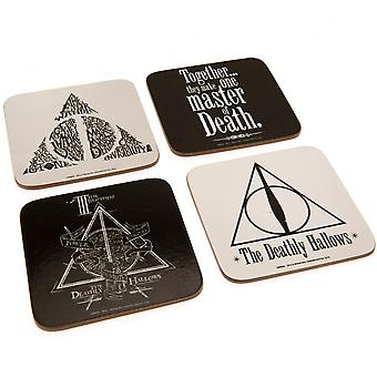 Harry Potter Deathly Hallows Coaster Set