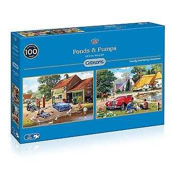 Gibsons Ponds & Pumps Jigsaw Puzzles (2 x 500 Pieces)