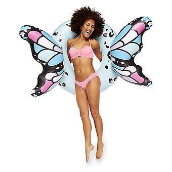Grande bouche Inc - ailes de papillon géant piscine flotteur (bleu)