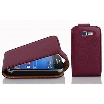 Cadorabo sag for Samsung Galaxy TREND LITE sag dække - Flip telefon sag i tekstureret imiteret læder - Sag Cover Beskyttende sag bog folde stil