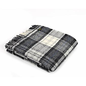 Tweedmill Pure New Wool Cottage Grey Check Throw
