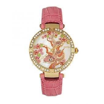 Bertha Mia Mother-Of-Pearl Leather-Band Watch - Pink