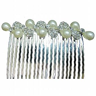 Bridesmaid Hair Accessories Freshwater Pearls with Clear Rhinestones