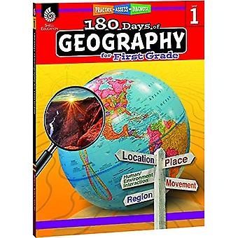 180 Days of Geography for First Grade (Grade 1): Practice, Assess, Diagnose (180 Days of Practice)