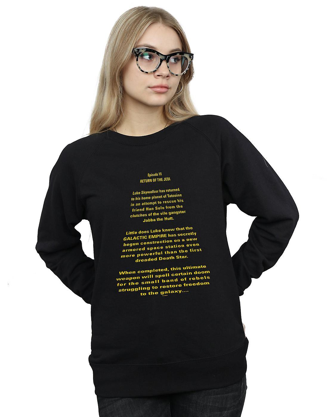 Star Wars Women's Return Of The Jedi Opening Crawl Sweatshirt