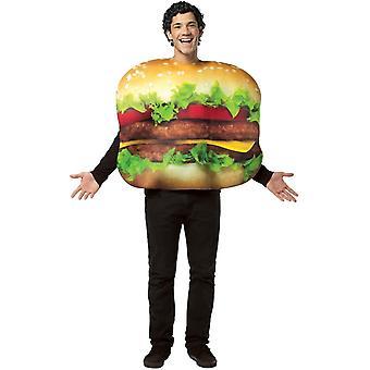 Cheeseburger voksen kostume