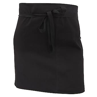 Dennys Ladies/Womens Economy Short Bar Workwear Apron (Without Pocket) (Pack of 2)