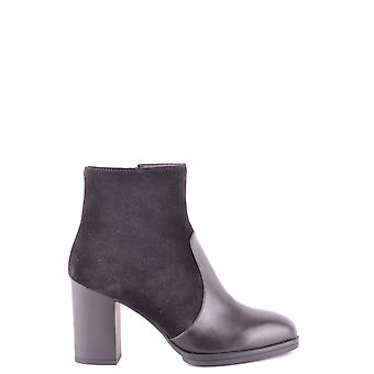 Tod's Ezbc025032 Women's Black Leather Ankle Boots