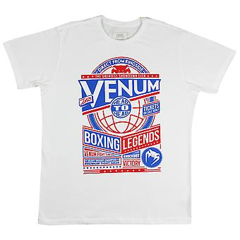 Venum Mens boxe Legends T-Shirt-blanc