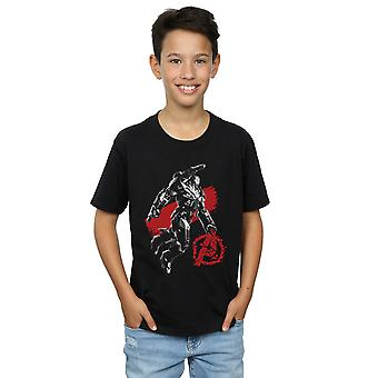 Marvel Boys Avengers Endgame Mono Savaş Makinesi T-Shirt