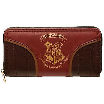 Harry Potter Gold Hogwarts Emblem Zip Around Purse