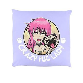 Grindstore Crazy Pug Lady Cushion