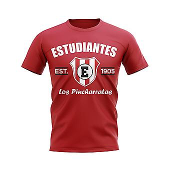 Estudiantes de la Plata Established Football T-Shirt. (Red)
