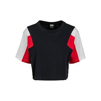 חולצה לנשים קלאסיות-חולצת טי 3-טון קצר יתר