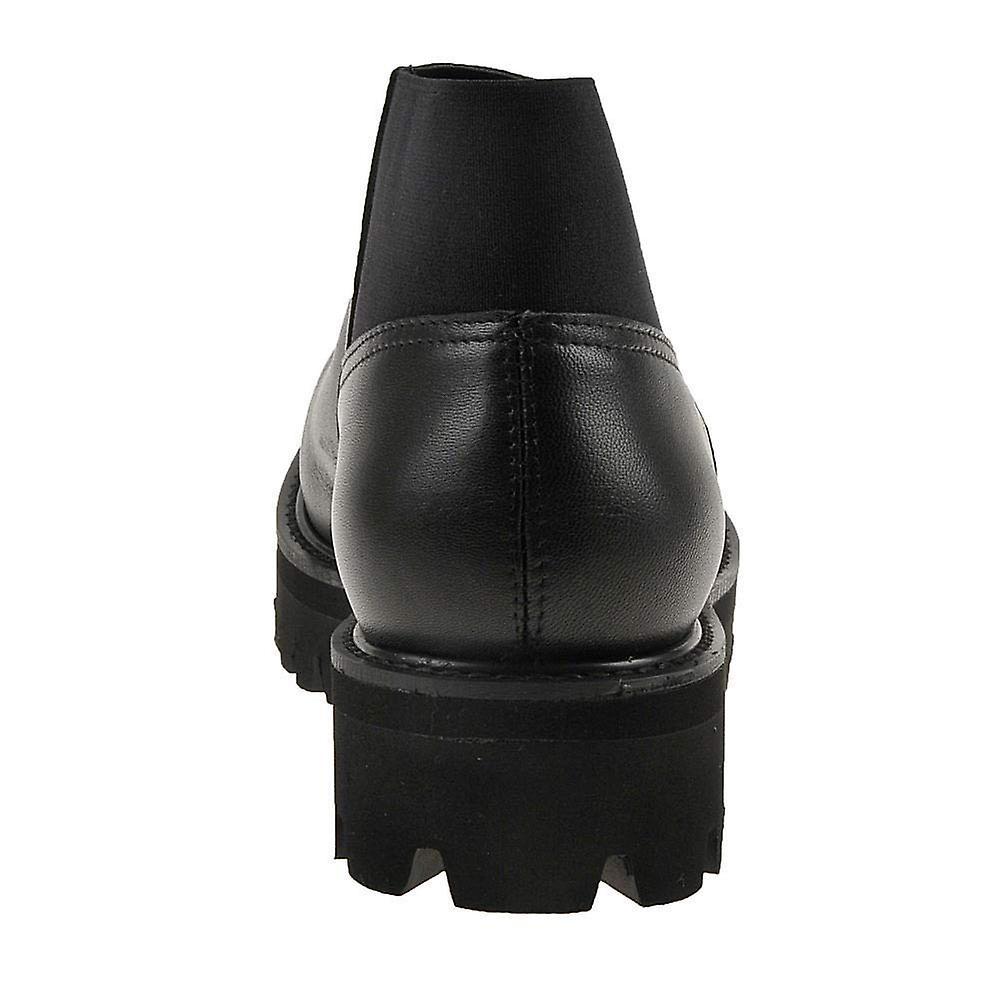 Tutti nero Womens Stretch-it Lugg chiuso toe stivaletti moda