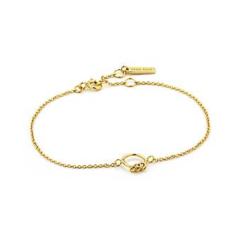 Ania Haie Gold Plated Sterling Silver 'Modern Minimalism' Circle Bracelet