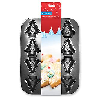 Eddingtons 12 Cup Christmas Tree muffin tin