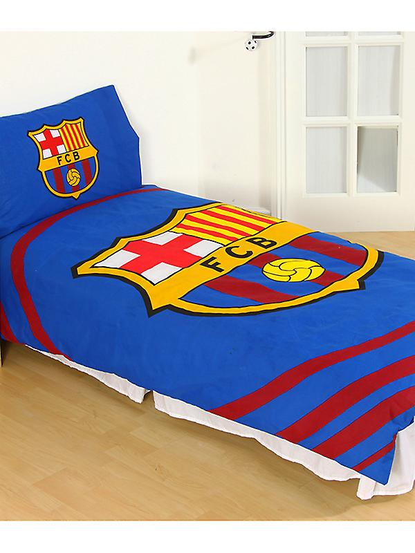 FC Barcelona Pulse Duvet Cover and Pillowcase Set