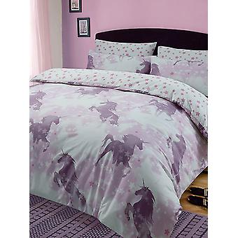 Unicorn Dreams Duvet Cover and Pillowcase Set