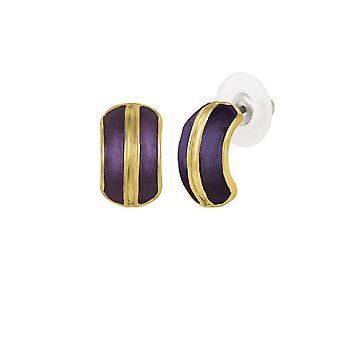 Eternal Collection Elite Purple emali kulta sävy Stud lävistetty korva korut
