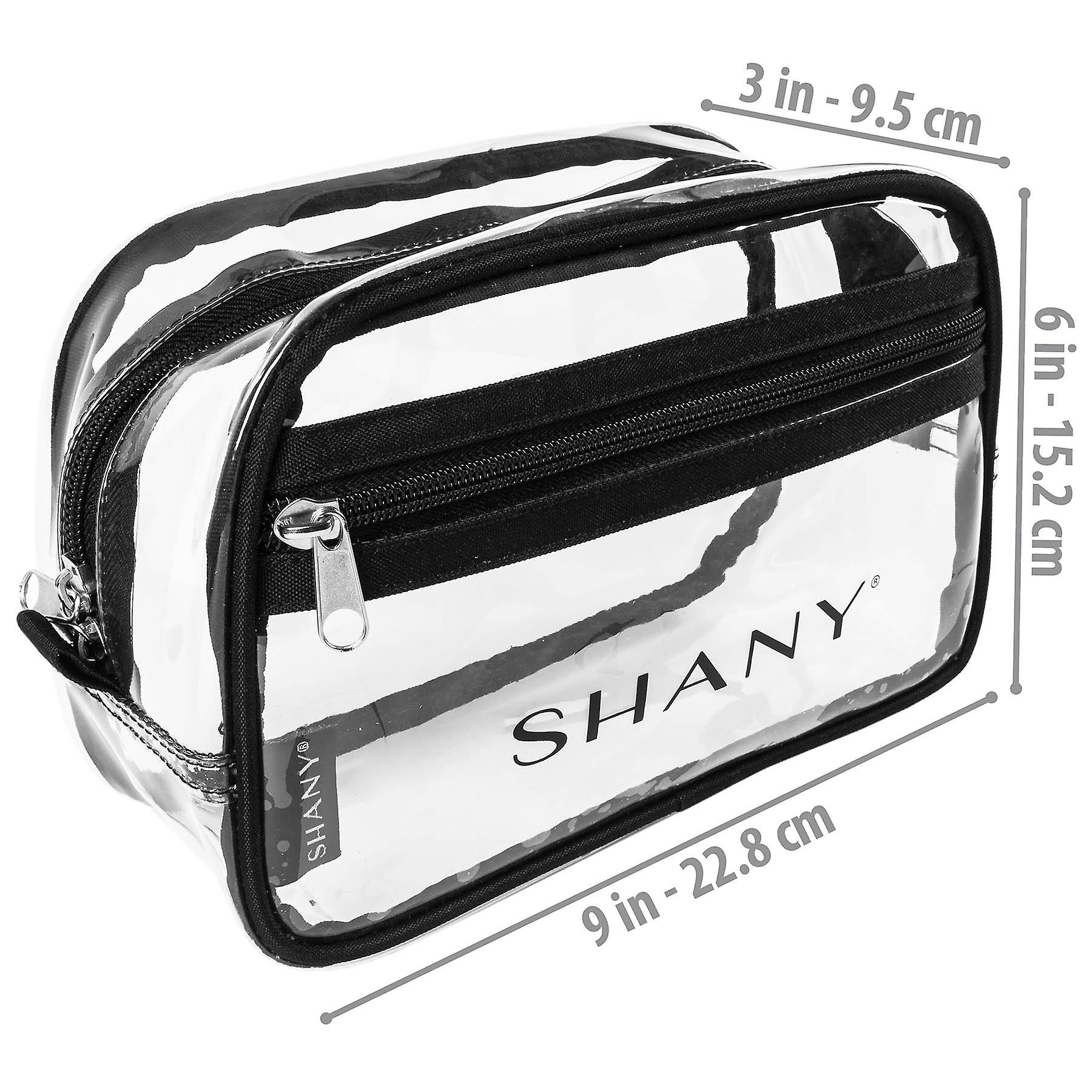 SHANY Clear Toiletry Makeup Carry-On Pouch with Zippered Compartment – Water-Resistant and Nontoxic Travel Organizer Bag