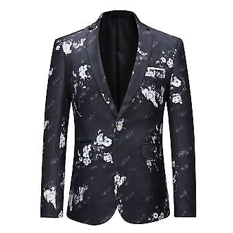 Allthemen Men ' s Flower impresso blazer Slim Fit terno floral causal Jacket para homens